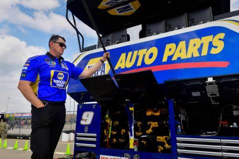 John Gianninoto, fueler for Chase Elliot (9), before the Monster Energy NASCAR Cup Series KC Ma ...