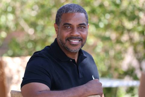 Democrat Steven Horsford, who is running for Nevada's 4th Congressional District, poses for pho ...