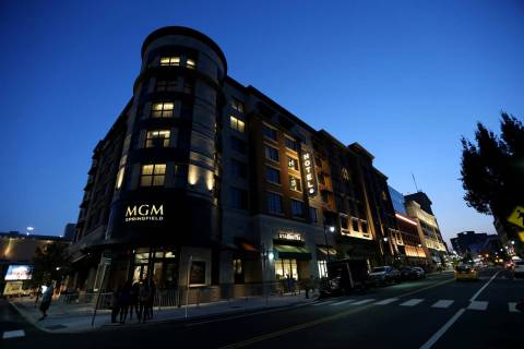 The MGM Springfield million casino in Massachusetts is seen Wednesday, Aug. 22, 2018. K.M. Cann ...