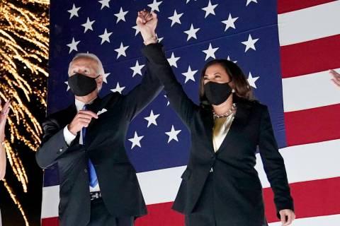 Democratic presidential candidate former Vice President Joe Biden and his running mate, Sen. Ka ...