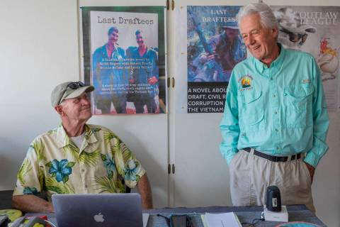 """Last Draftees"" co-authors Vietnam veteran Robert Foust, left, and Keith Rogers, a former R ..."