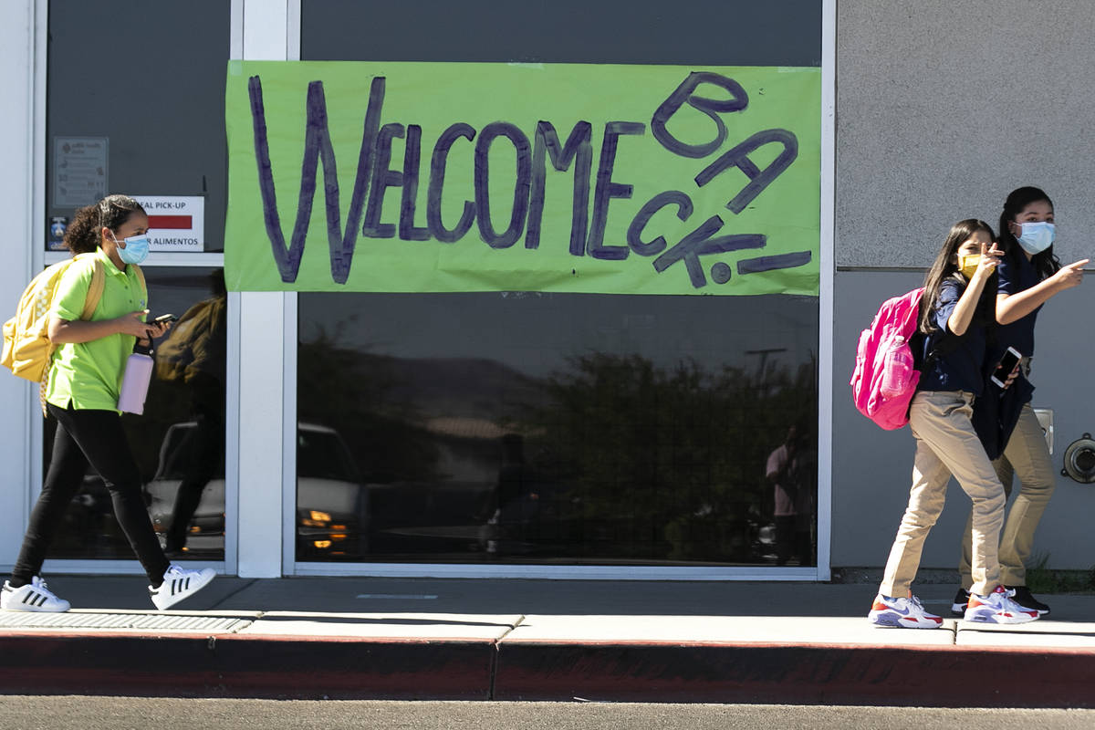 The SLAM Academy, a public charter school, students leave their school after attending the firs ...