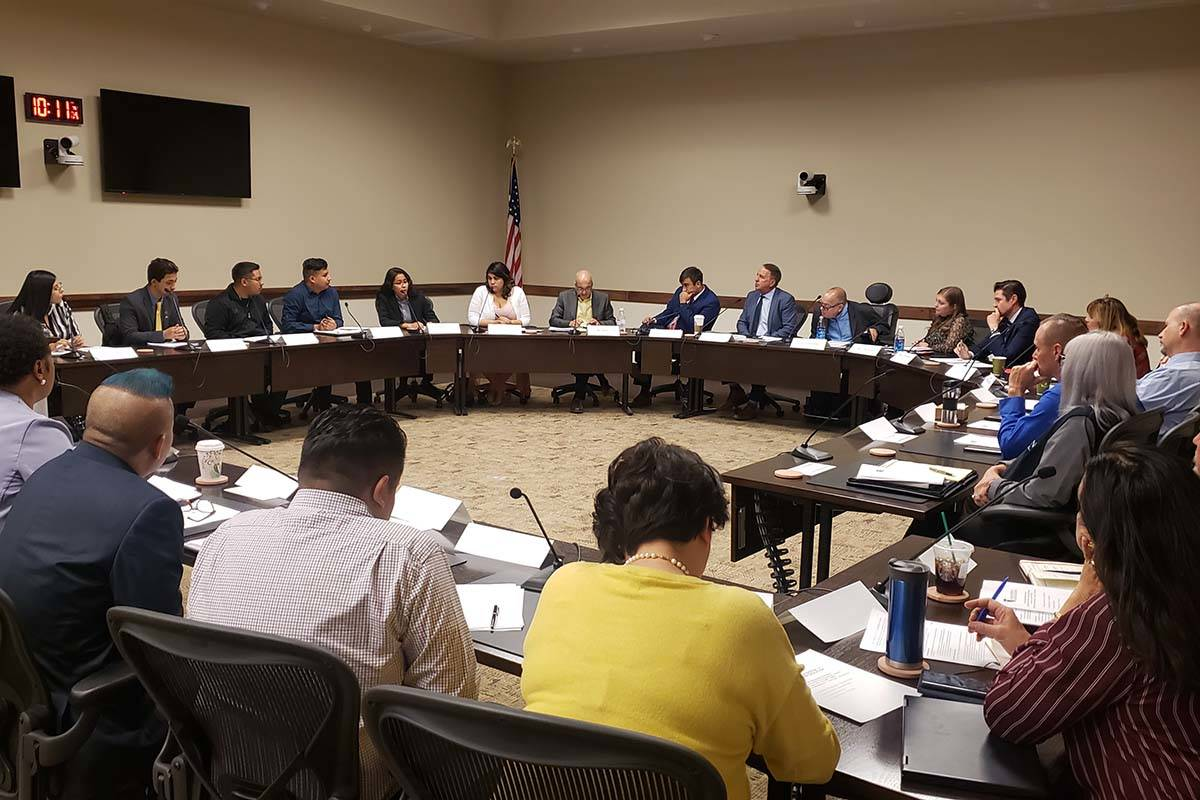 Undocumented students and advocates met with Nevada System of Higher Education administrators i ...
