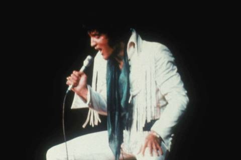 "Elvis Presley in ""Elvis: That's The Way It Is,"" filmed at the International. (Las Veg ..."