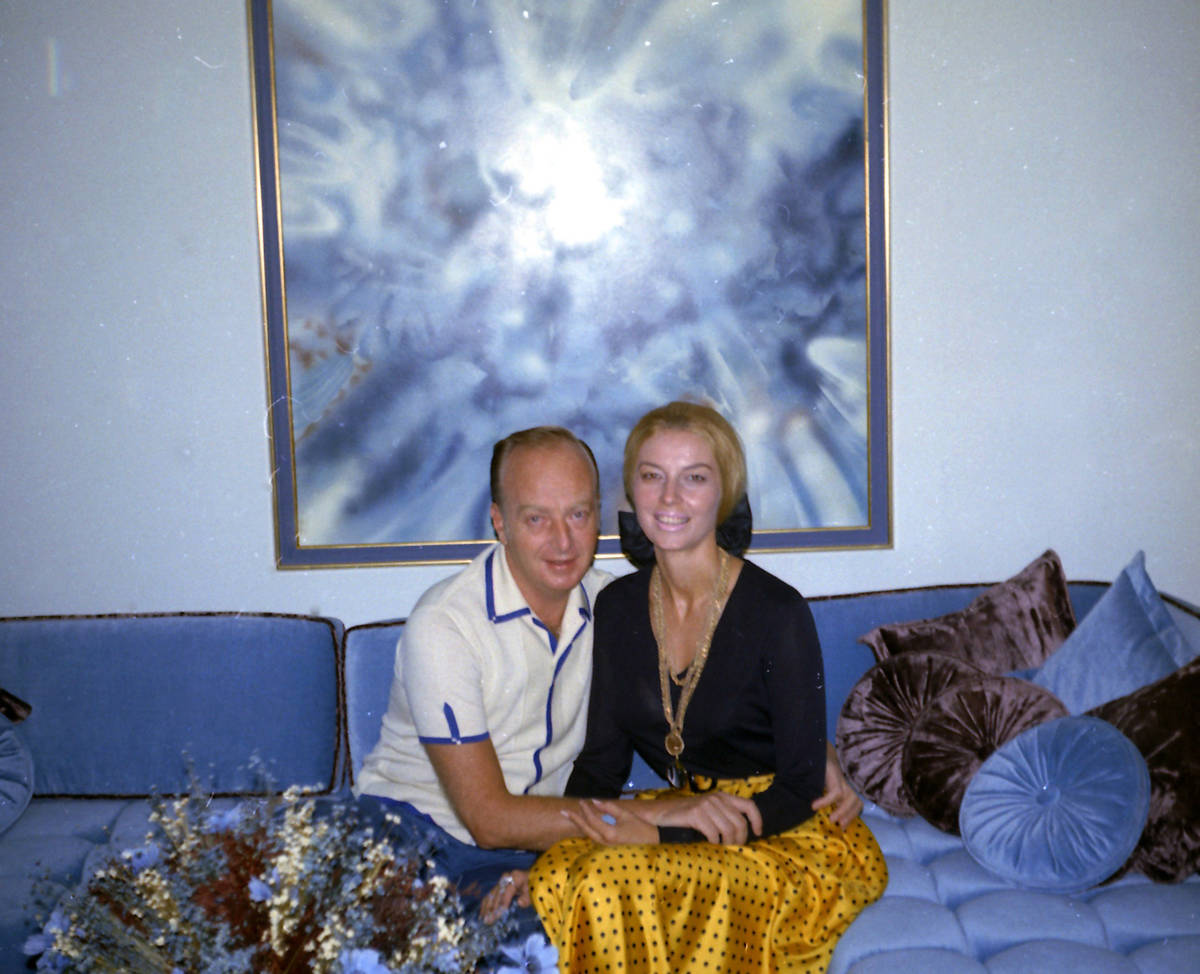 """Casino executive Frank """"Lefty"""" Rosenthal, left, sits next to his wife Geri Rosenthal in their L ..."""