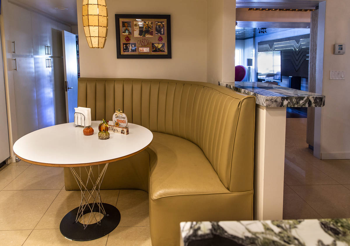 The kitchen booth is another great design feature preserved during a tour of Lefty Rosenthal's ...