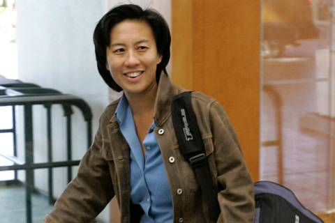 FILE - In this Nov. 5, 2007 file photo, Los Angeles Dodgers assistant general manager Kim Ng w ...