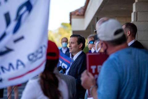 Adam Laxalt, former attorney general of Nevada, announces a new elections lawsuit against Clark ...