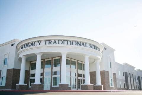 Legacy Traditional School during the opening week of the southwest Las Vegas campus on Sunday, ...
