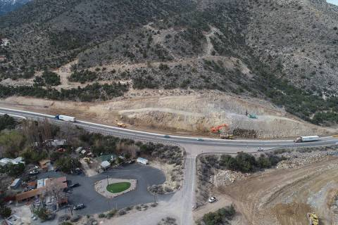 Crews wrapped up a $59 million widening project of state Route 160 between Las Vegas and Pahrum ...