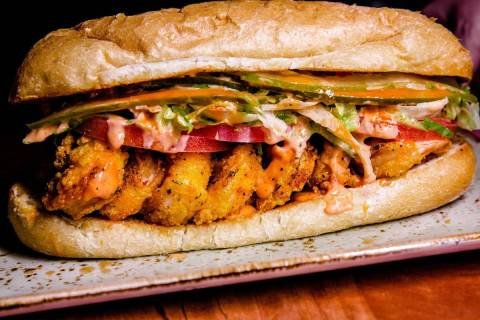 Crystal-Fried Shrimp Po-Boy at Emeril's New Orleans Fish House. (Emeril's)
