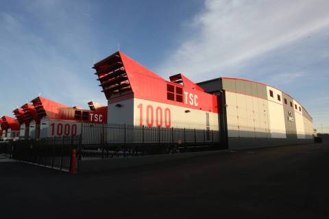 Switch data centers are seen in the Las Vegas Digital Exchange Campus, a business park in the s ...