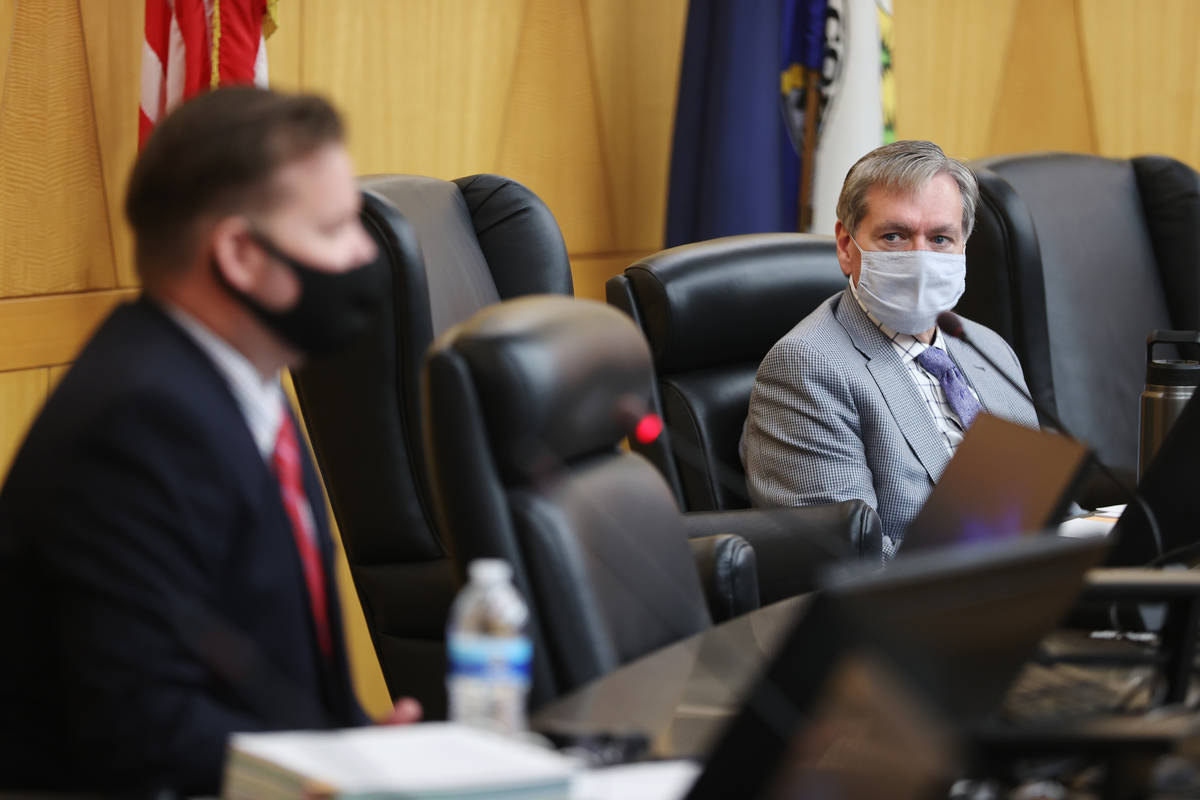 Hearing Officer Spencer Judd during the fact finding review in the death of David Baxter, who d ...