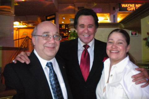 "Alan Stamm, Wayne Newton and Tracey Davis are shown at the opening night of Newton's ""Once Befo ..."