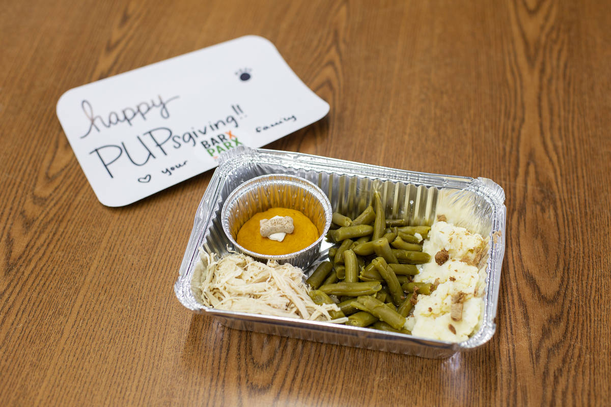 """A """"PUPsgiving"""" meal donated by Barx Parx at City of Henderson Animal Care and Control ..."""