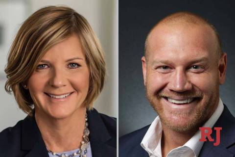 Susie Lee and Dan Rodimer, candidates for 3rd Congressional District in Nevada (Facebook/Las Ve ...