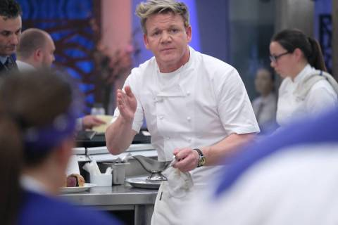 Host/chef Gordon Ramsay in an episode of Hell's Kitchen. (FOX)