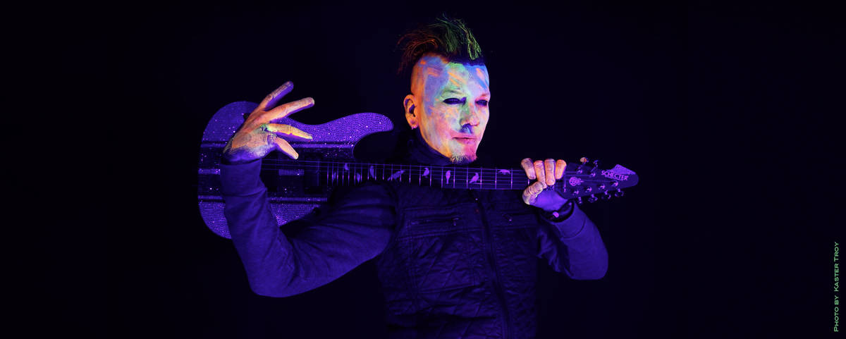 "DJ Ashba is shown in a promotional photo for ""Hypnotic,"" featuring Cali Tucker, an EDM track th ..."