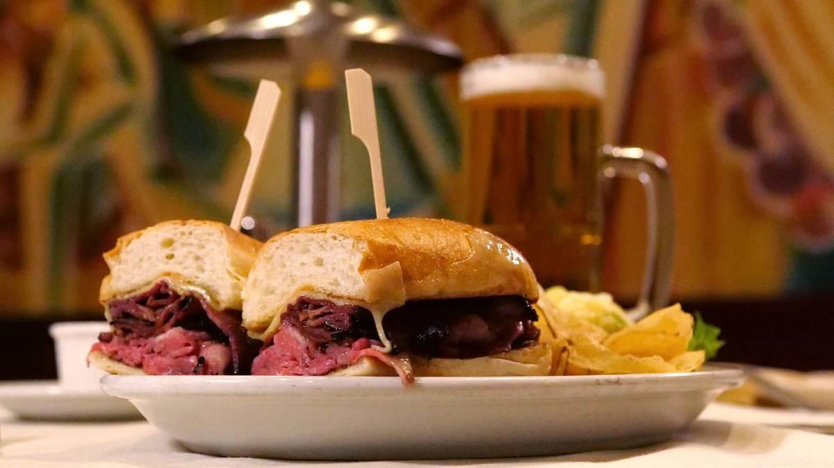 Lawry's prime rib sandwich. (Lawry's the Prime Rib)