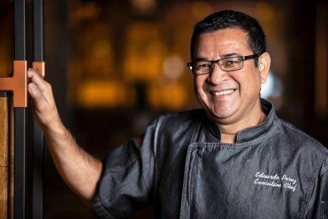 Chef Eduardo Perez at Matteo's Ristorante Italiano on Wednesday, Nov. 11, 2020, at The Venetian ...