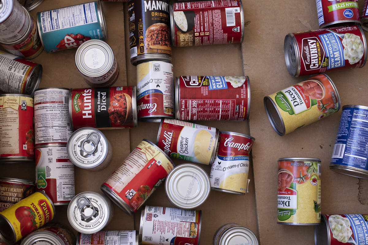 Local organizations will host drive-through food drive events this weekend. (Ellen Schmidt/Las ...