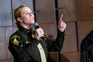 Metropolitan Police Department Deputy Chief Kelly McMahill, seen in 2019. (Chase Stevens/Las Ve ...