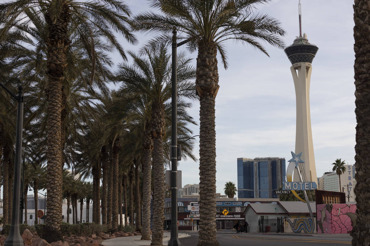 The Las Vegas high temperature is expected to be about 60 on Thursday, Nov. 26, 2020, according ...