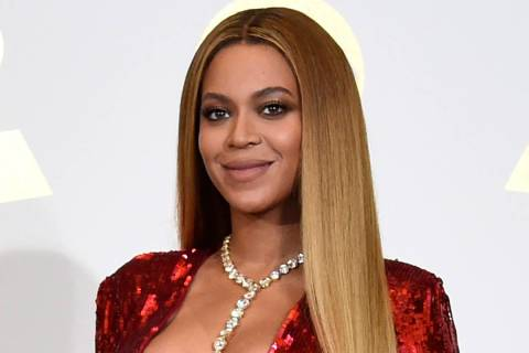 In this Feb. 12, 2017, file photo, Beyonce poses in the press room at the 59th annual Grammy Aw ...