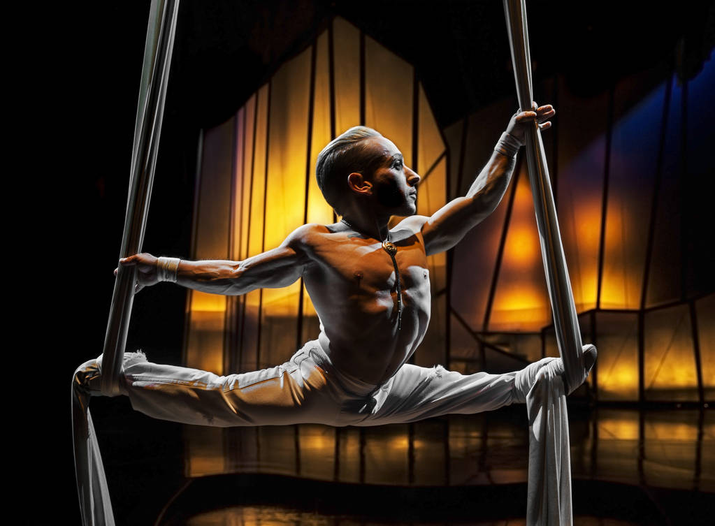 Aerial silk performer Alan Jones Silva, from Sao Paulo, Brazil, has been with Cirque du Soleil' ...