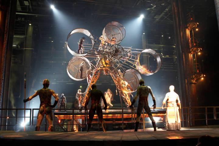 """A scene from the Cirque du Soleil show """"Ka"""" at MGM Grand. (Cirque du Soleil)"""