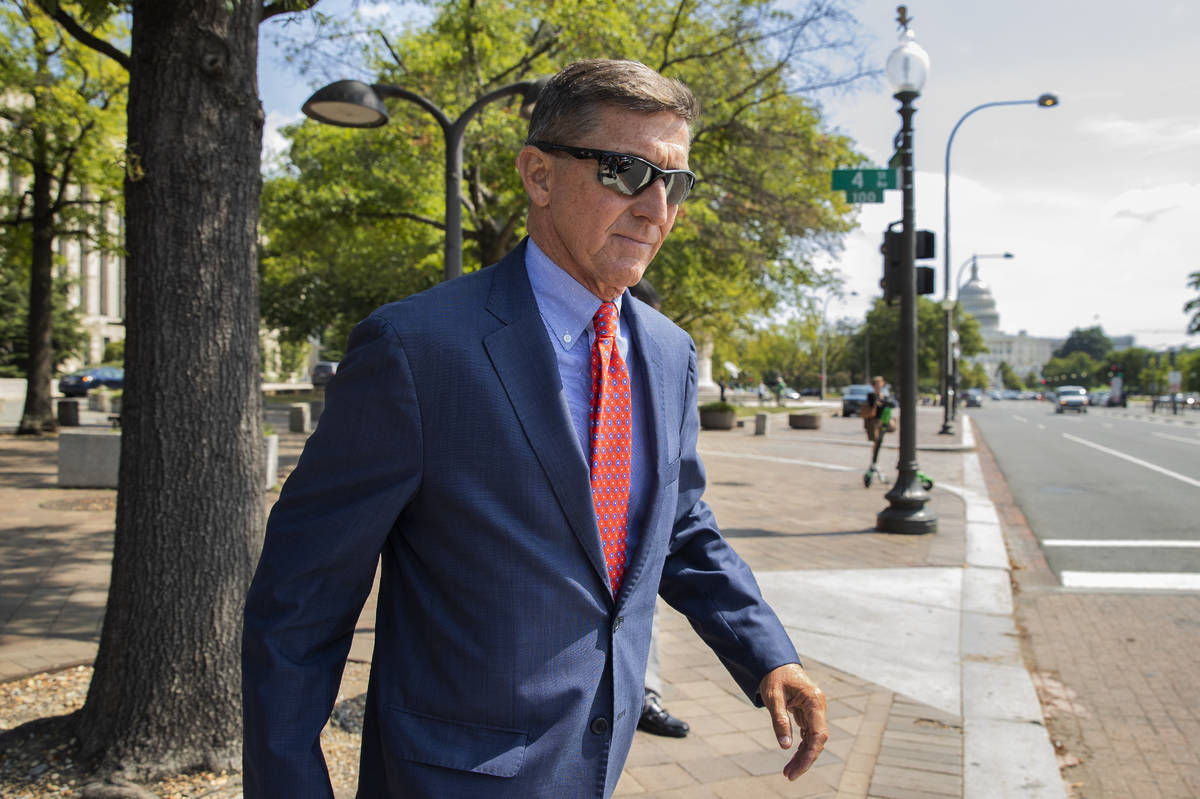 In this Sept. 10, 2019 file photo, Michael Flynn, President Donald Trump's former national secu ...