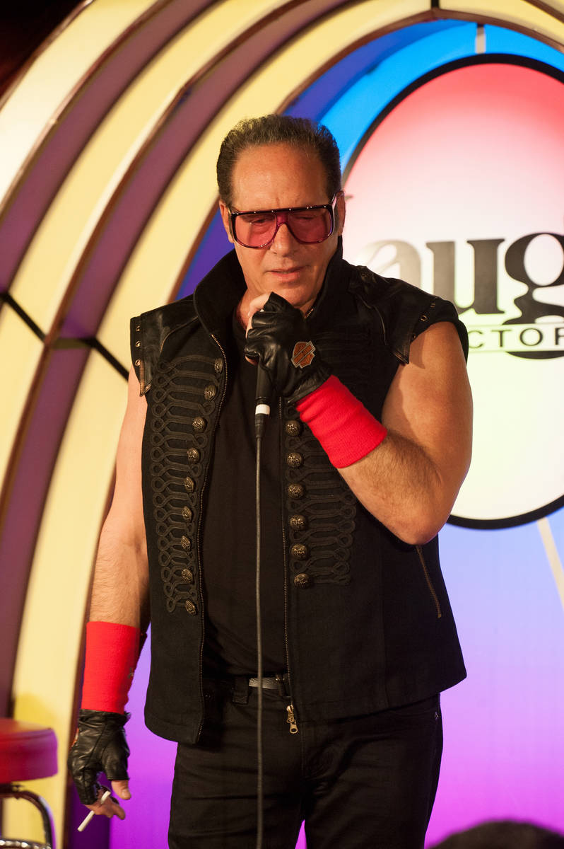 Andrew Dice Clay is shown at Laugh Factory at the Tropicana in March 2018. (Harry Basil)