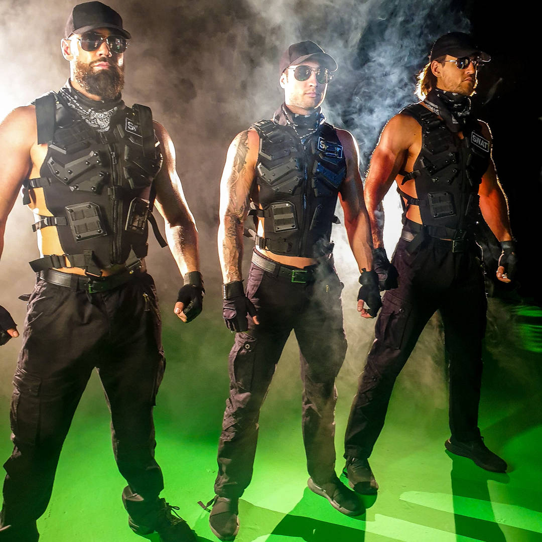 Thunder From Down Under, the long-running male revue at Excalibur, is performing a live-stream ...