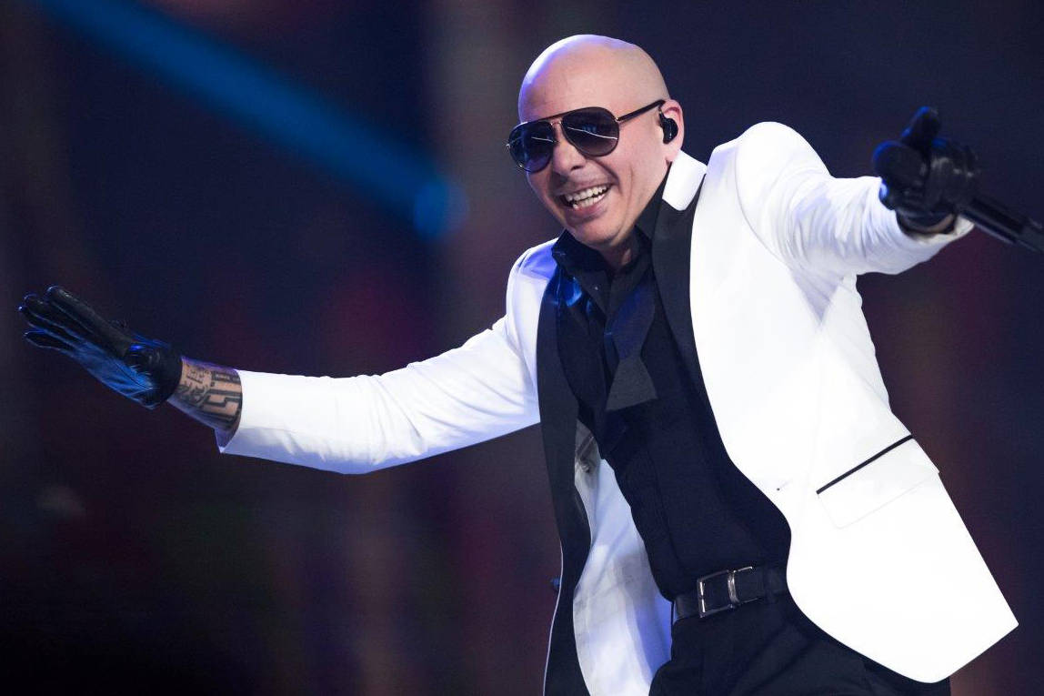 Pitbull performs during The Miss USA Pageant at Mandalay Bay Events Center on May 14, 2017, in ...