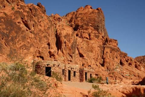 The Civilian Conservation Corps built these sandstone cabins in 1934. (Deborah Wall/Las Vegas R ...