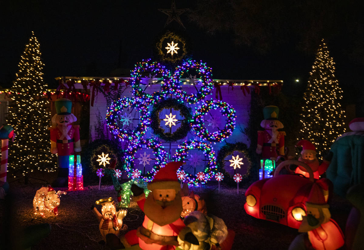 A house on East Houston Drive, decorated for the holiday season, is listed on the Parents of La ...