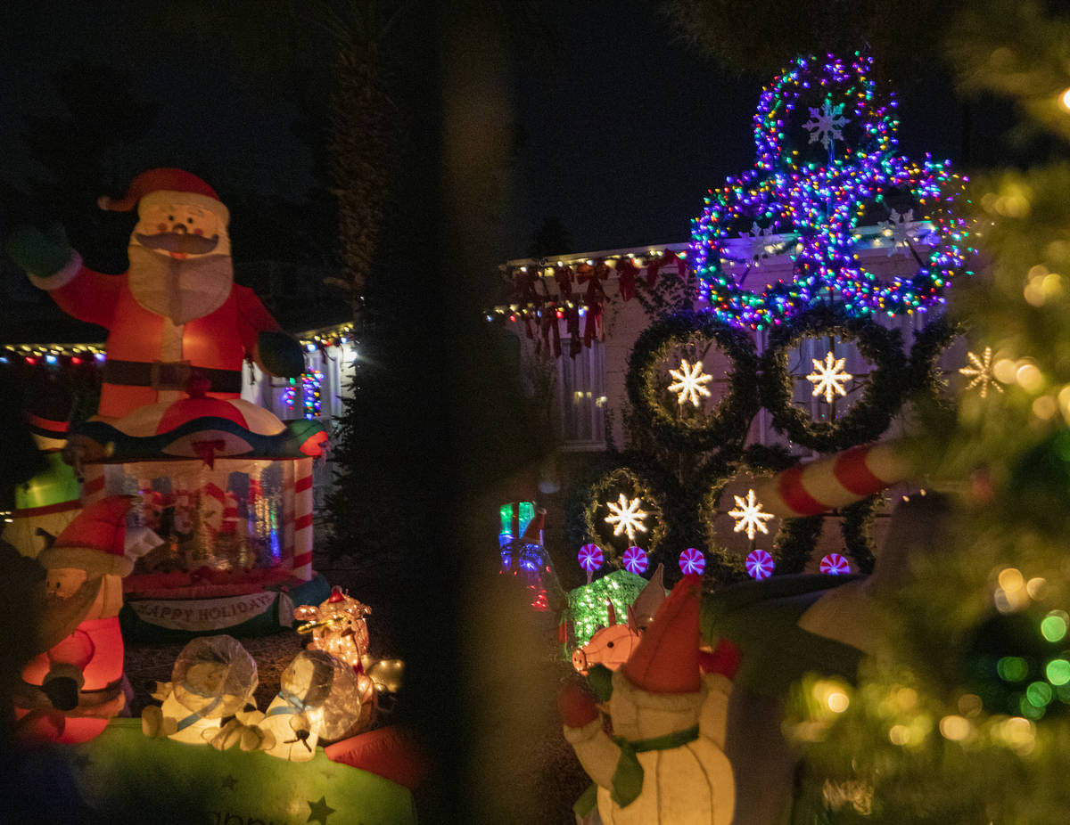 A house located on East Houston Drive is seen decorated for the season and listed on the Parent ...