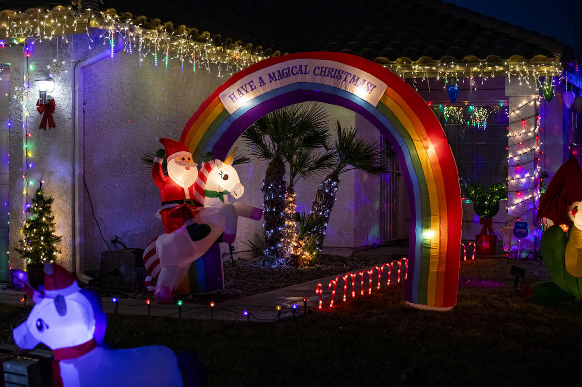 A Henderson house located in the Green Valley South neighborhood off Pecos Road is decorated fo ...
