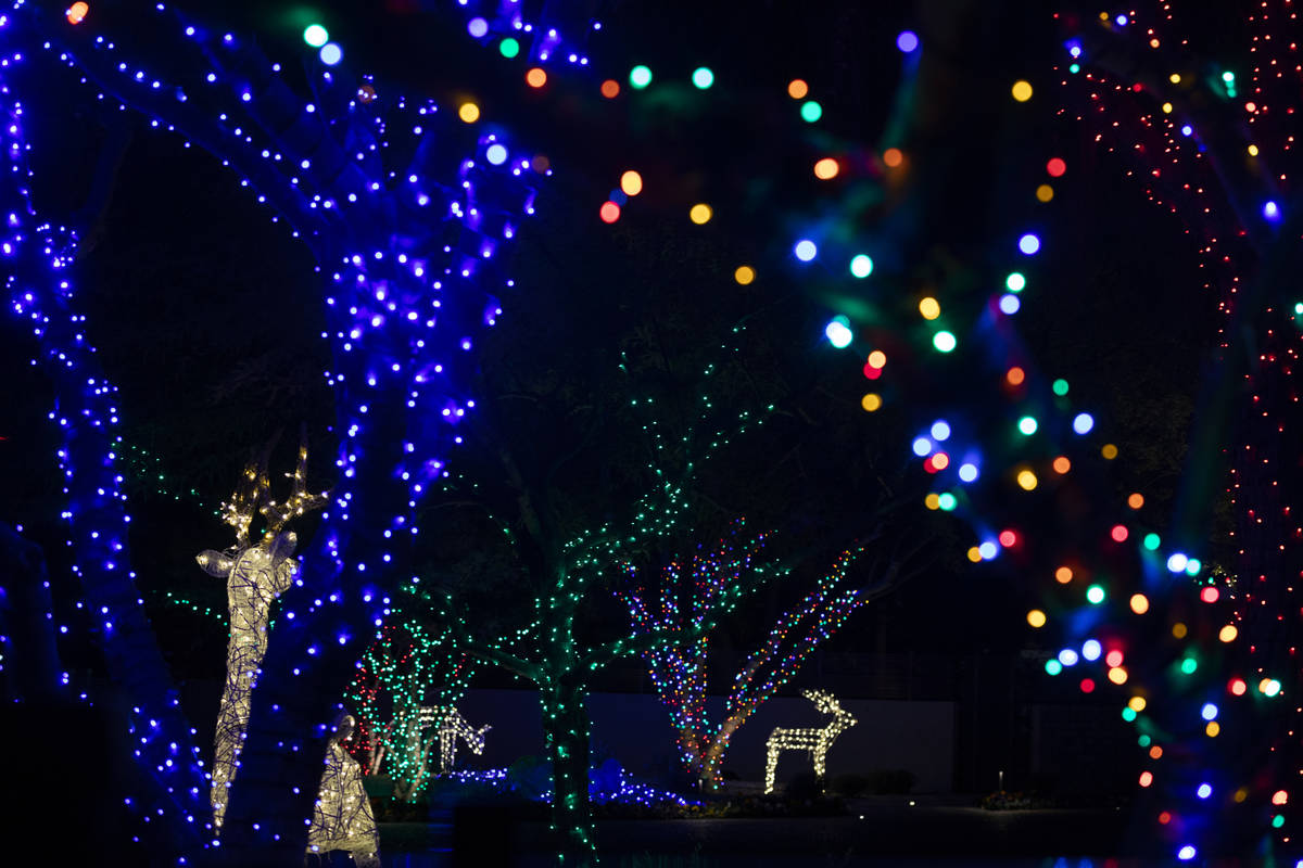 A house on South Birch Street is decorated for the season and listed on the Parents of Las Vega ...