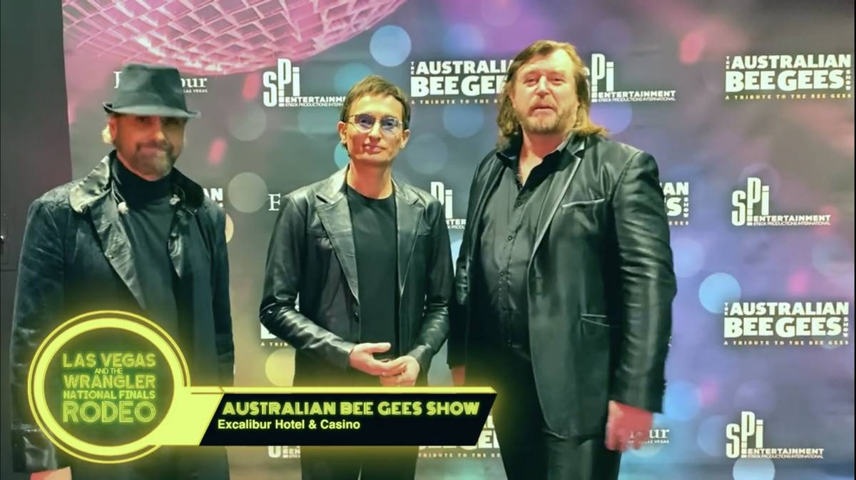 Excalibur headliners Australian Bee Gees are shown in a screen grab in a Las Vegas Events vidoe ...