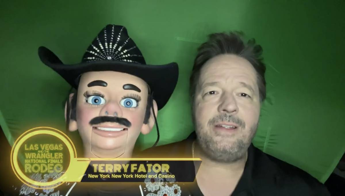 Ventriloquist Terry Fator and Walter T. Airdale are shown in a screen grab in a Las Vegas Event ...
