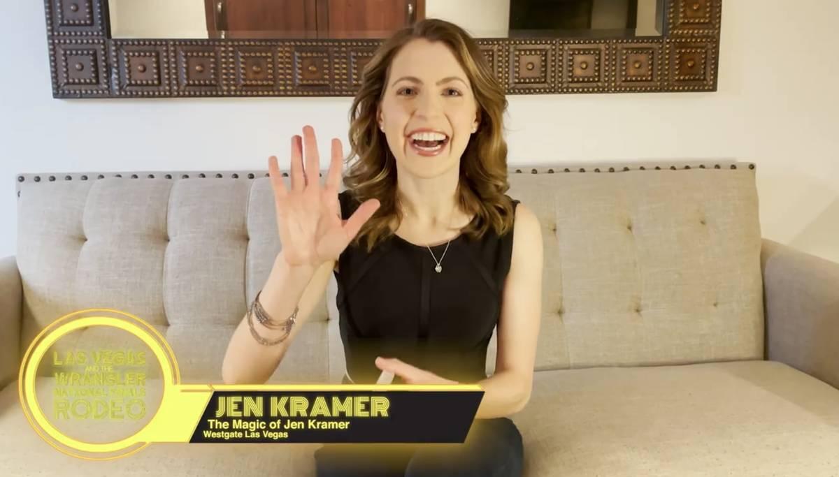 Westgate magician Jen Kramer is shown in a screen grab in a Las Vegas Events vidoe promoting th ...