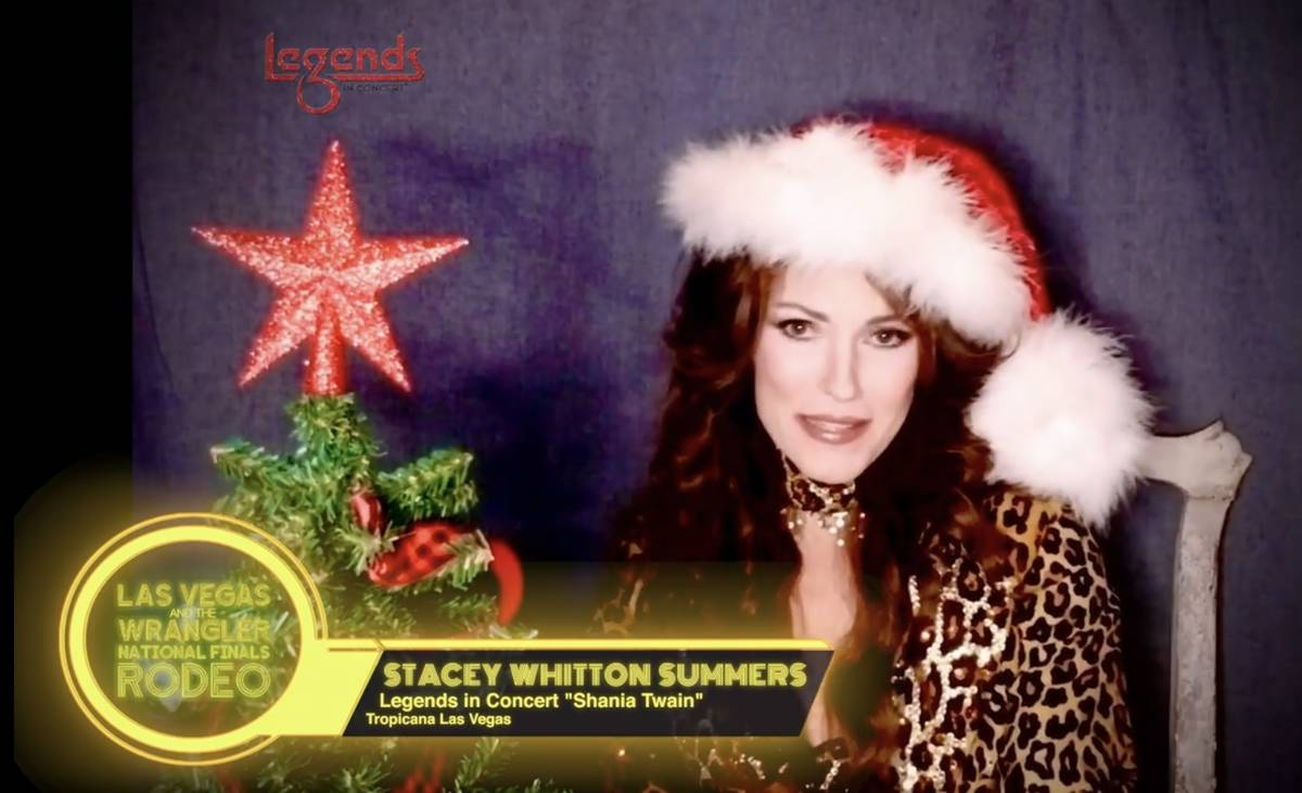 """""""Legends In Concert"""" at the Tropicana cast member Stacey Whitton Summers is shown in a screen g ..."""