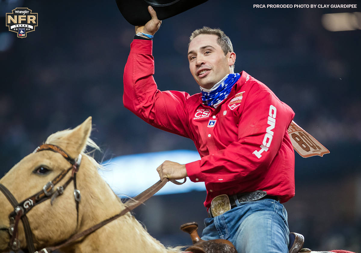 Jesse Brown on the second day of the Wrangler National Finals Rodeo at Globe Life Field in Arli ...