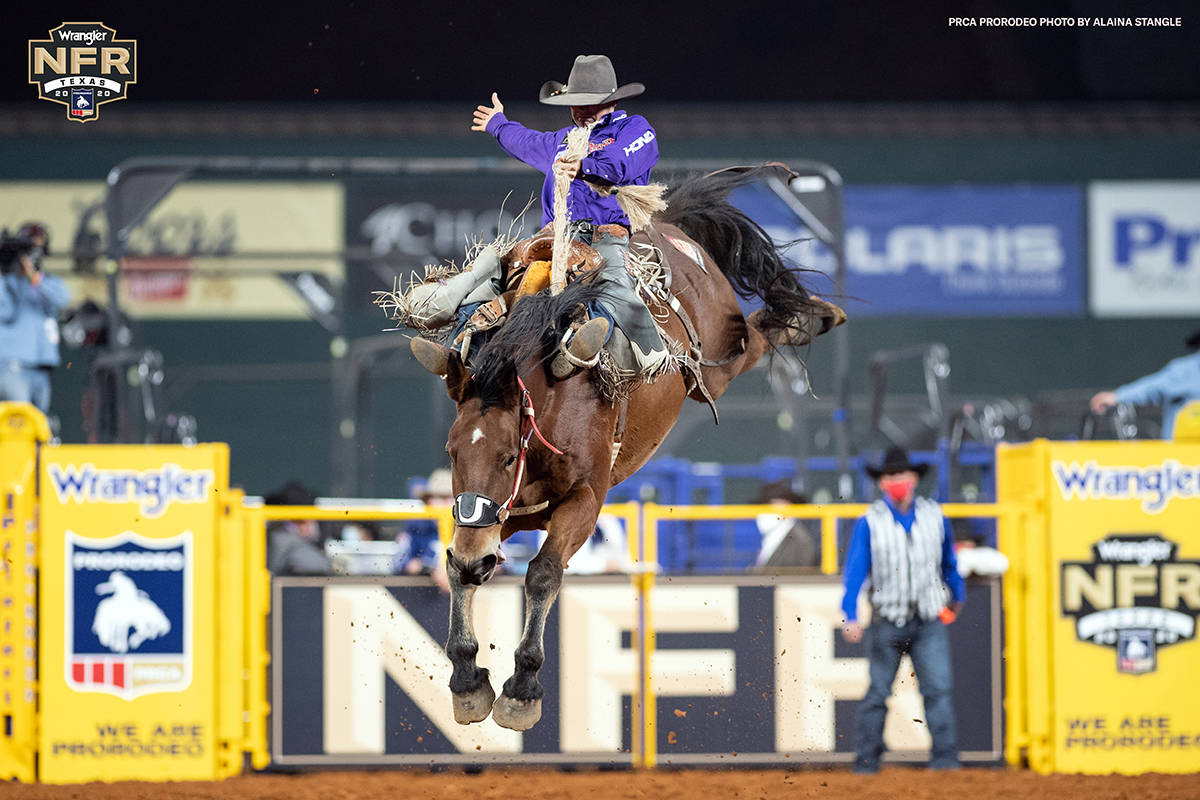 Shorty Garrett on the second day of the Wrangler National Finals Rodeo at Globe Life Field in A ...