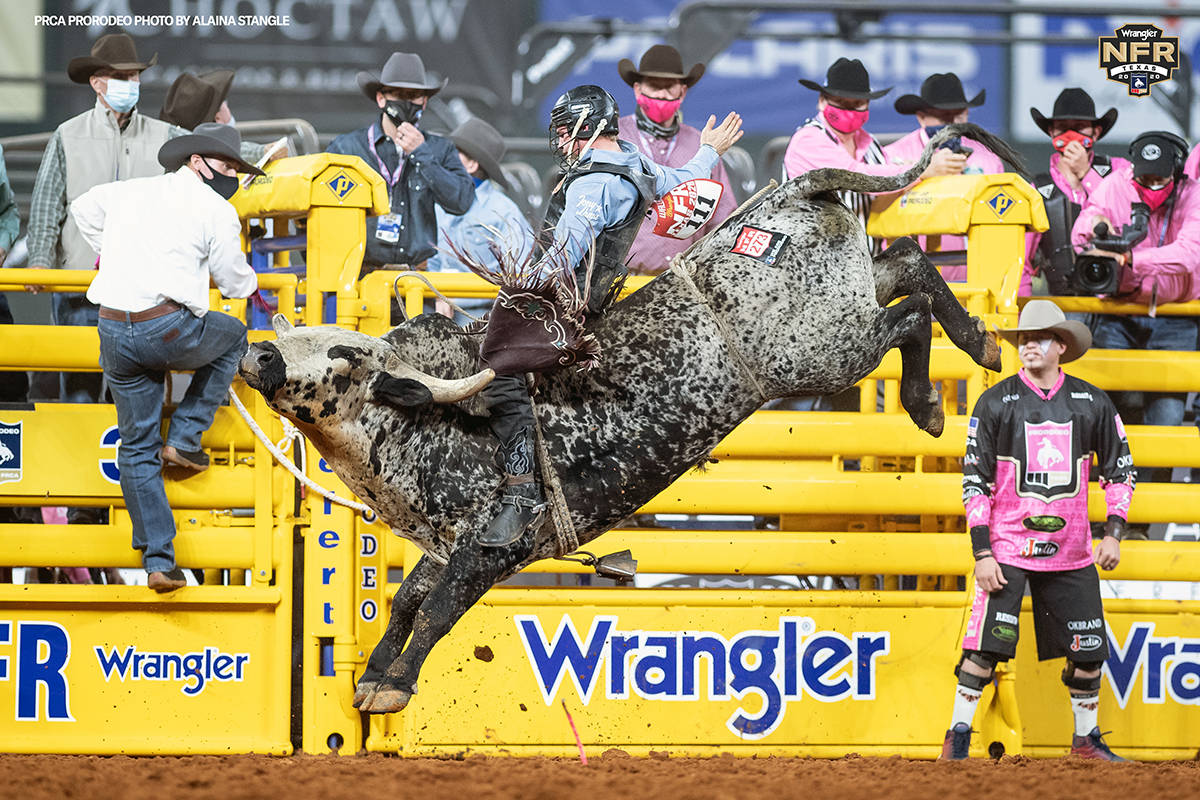 Ty Wallace performs during the fifth go-round of the National Finals Rodeo in Arlington, Texas ...