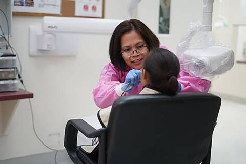 UNLV School of Dental Medicine provides treatment to patients at its clinic in Las Vegas. (UNLV ...