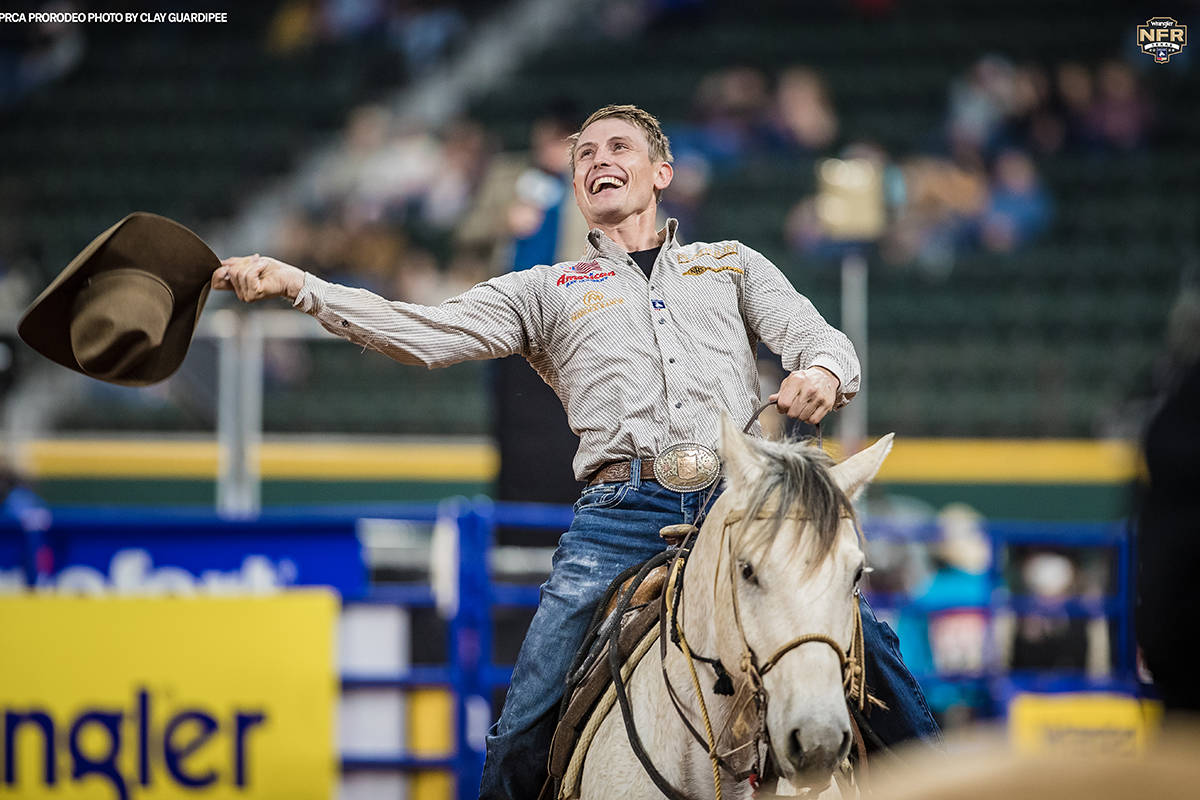 Tuf Cooper from Decatur, Texas, on Friday, Dec. 11, 2020, on Day 9 of the Nationals Finals Rode ...