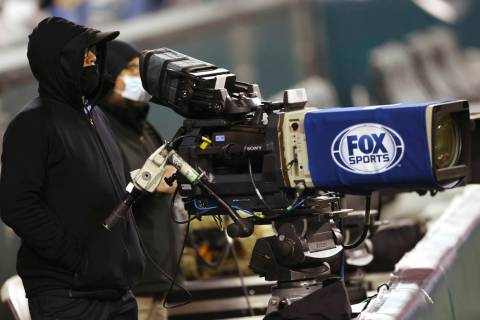 A FOX Sports tv camera on the sidelines of an NFL football game between the New Orleans Saints ...