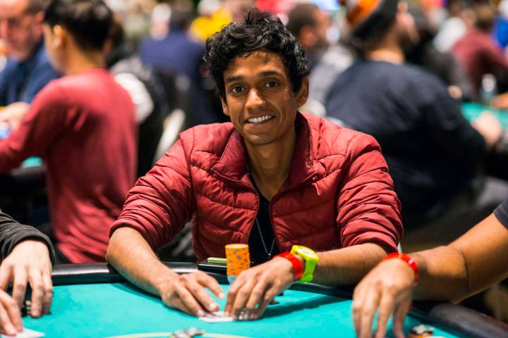 Upeshka De Silva, seen in an undated photo, led the World Series of Poker Main Event after the ...